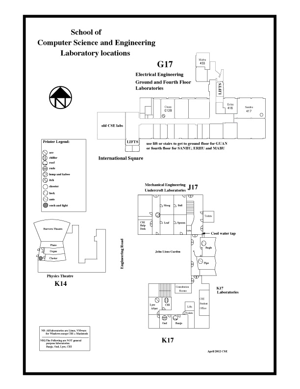 CSE lab map